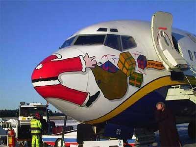 Un'impressione artistica sulla fine di Babbo Natale. Ma noi sappiamo che non è andata proprio così